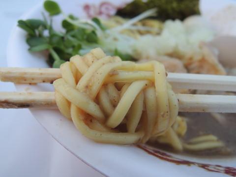 濃厚味噌の煮干し鶏そば~炙り肉バージョン~の麺
