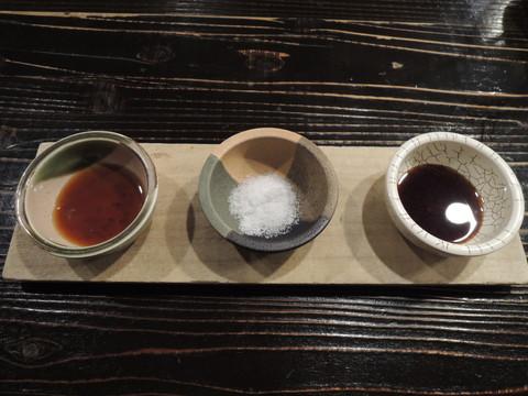 特選造り盛合わせの塩・醤油