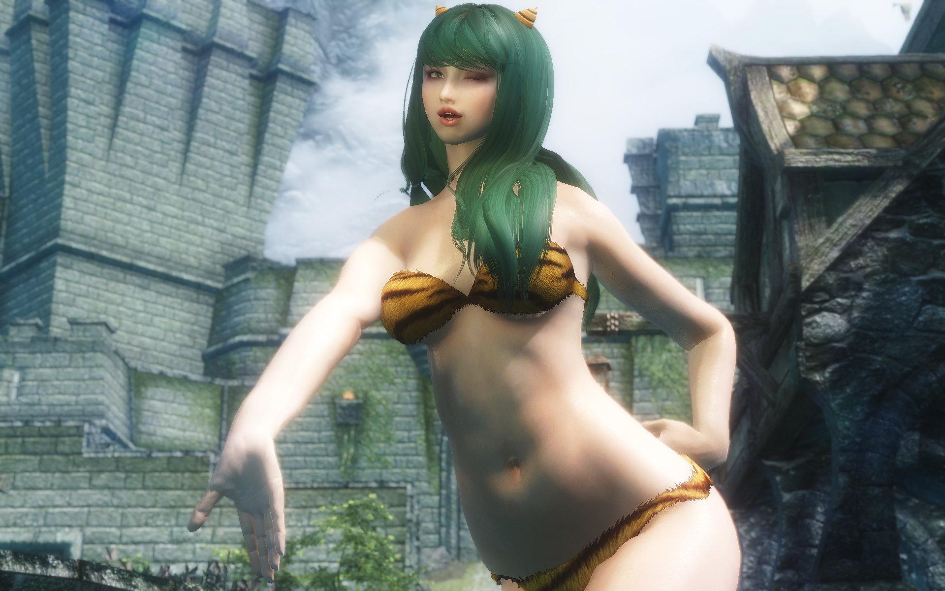 ラムちゃん風虎柄ビキニ -Lum Tiger Bikini-