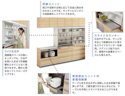 収納庫システムキッチン ベルフラワーⅢ|ナスラック