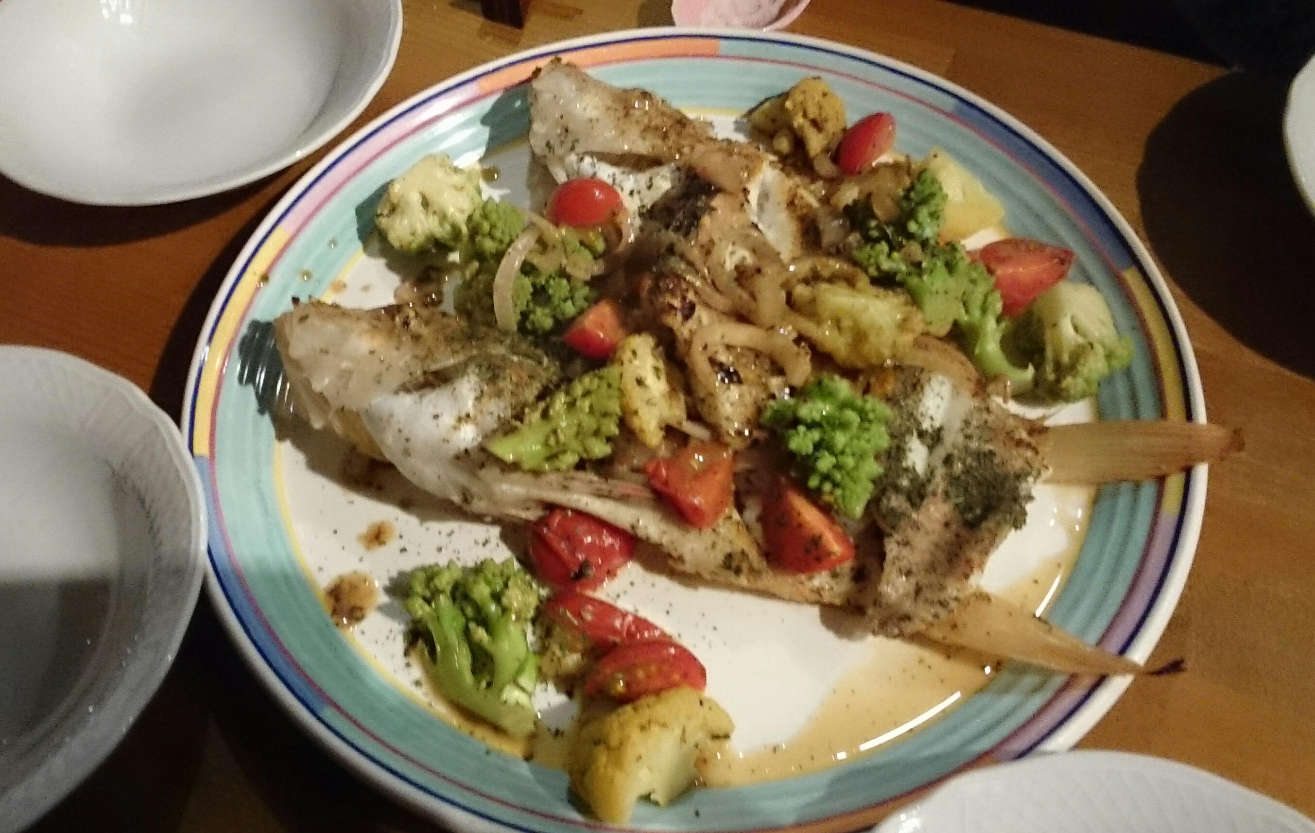 姫カサゴと有機野菜のアクアパッツア