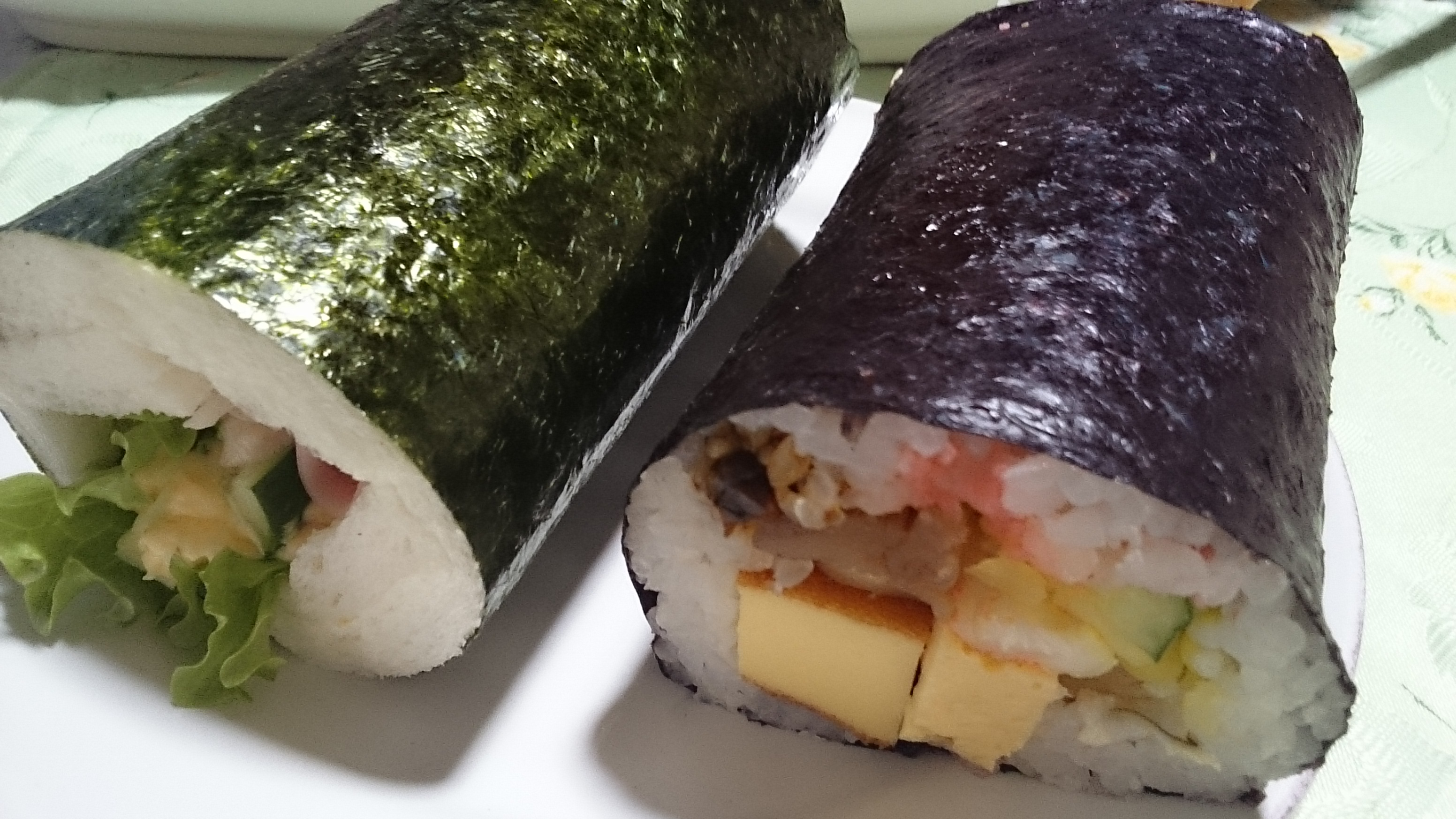 パンと巻き寿司