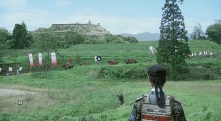 新府城を逃げる武田勝頼を見送る源次郎信繁