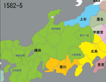 武田征伐後の勢力図 真田丸