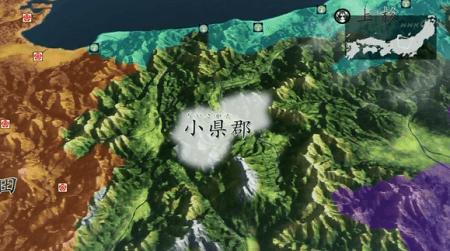 こちらが真田家の領地がある小県郡