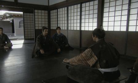 別室で徳川家康と会談する真田親子 真田丸