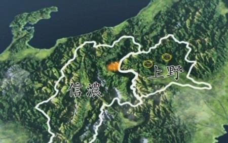 沼田城と岩櫃城を取り上げられたことで、領地が激減・地図 真田丸