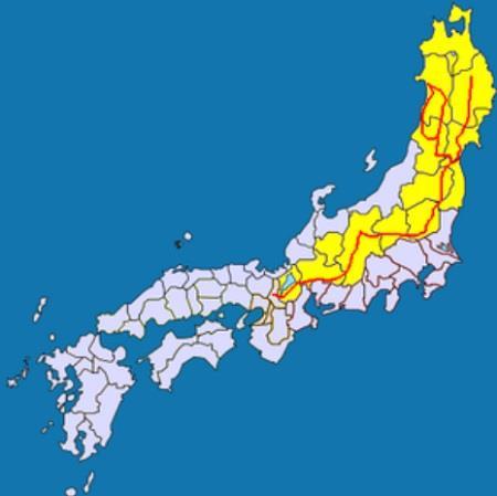 東山道の地図 真田丸