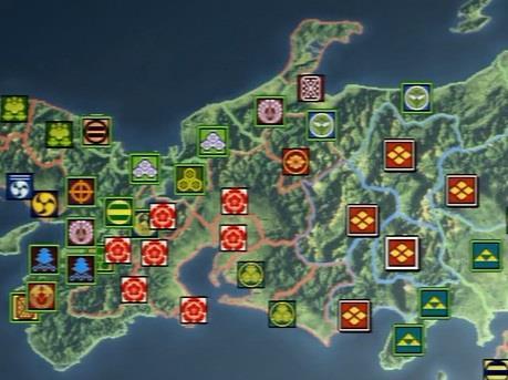 三方ヶ原の戦い前の武田家・地図 信長の野望