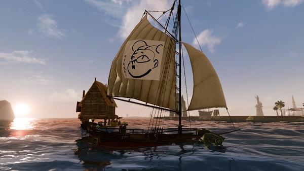 1月1日遠征隊メンバーの船の帆