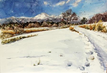 薄が原の雪景色