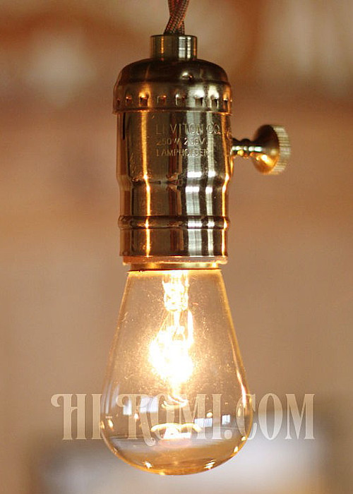 真鍮製ソケット ブラス brass socket pendant lamp light