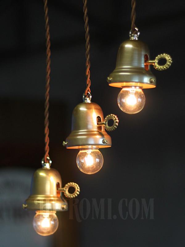 ベル型ランプ 吊下げ照明 照明計画 店舗設計 鍵スイッチ