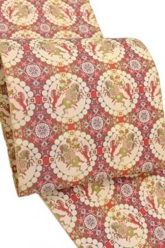 龍村美術織物 連珠狩猟紋