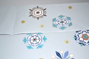 名古屋帯雪の結晶