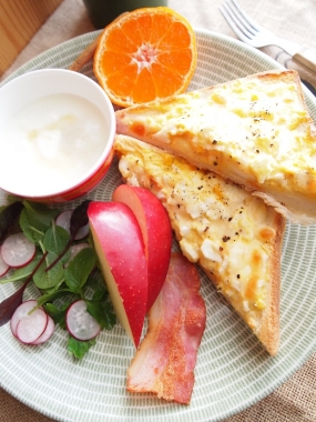 egg&cheese toast