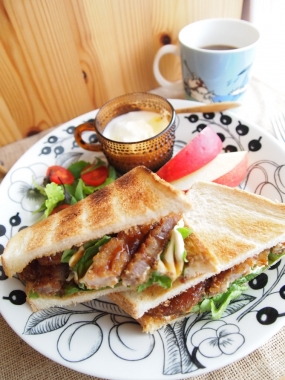 cutlet toast sandwich