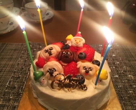 ケーキにろうそく