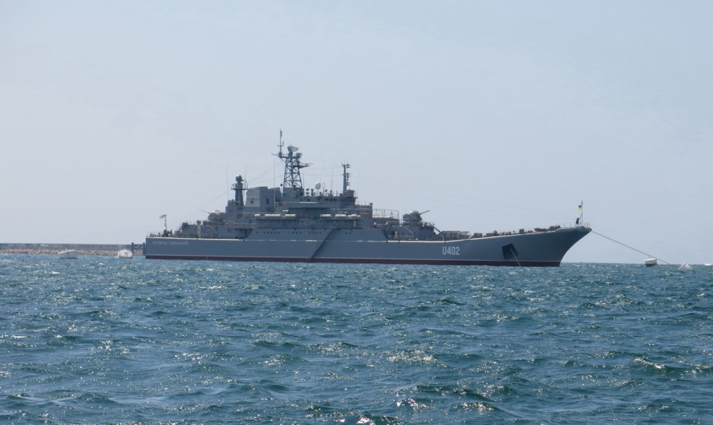 元ウクライナ海軍大型揚陸艦コン...
