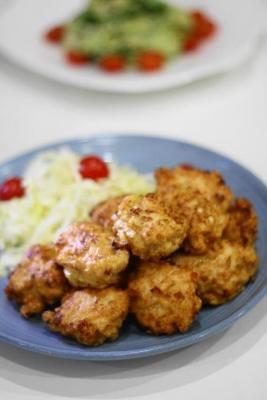 鶏胸肉と長ねぎの和風ナゲット2