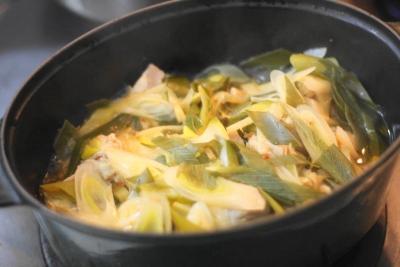 無水調理 de 鶏肉と長ねぎのピリ辛中華蒸し8