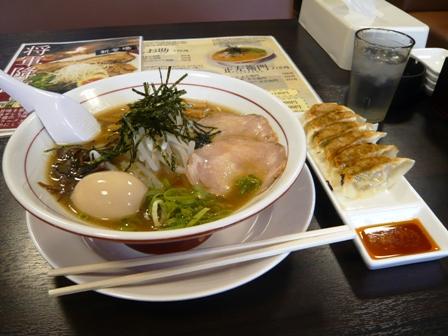 麺神:正左右衛門、餃子セット