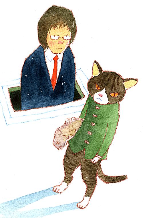 ネコと遊ぶ係
