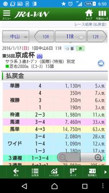 京成杯画面2