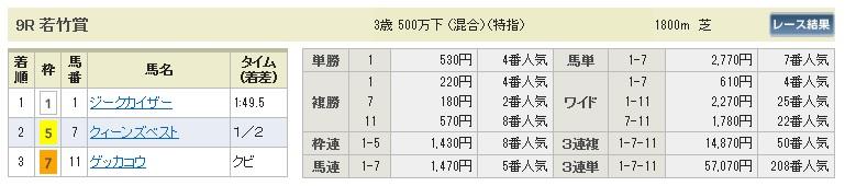 【払戻金】280123中山9(競馬 3連単 万馬券)