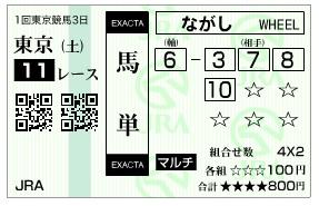 【馬券】280206東京11_2(競馬 3連単 万馬券)