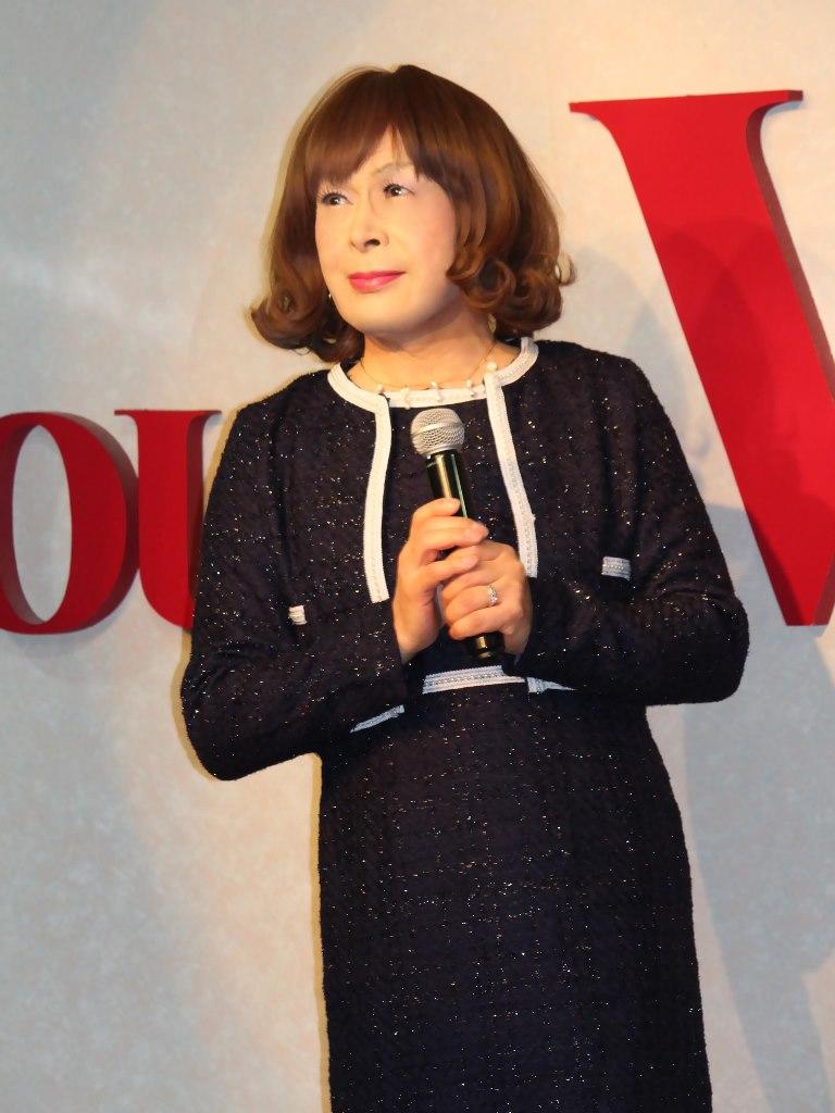 紺アンサンブルスーツカラオケ(2)
