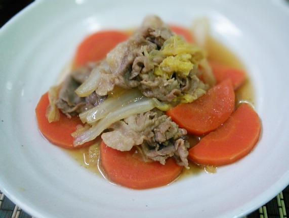 豚こまと白菜のオイスターソース煮
