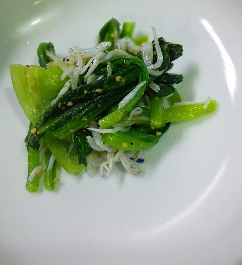 小松菜としらすのナムル