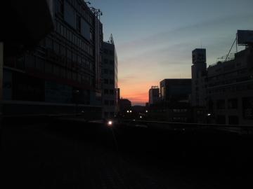 湘南の朝焼け