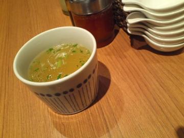 まず絶品スープ