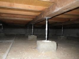 リホーム工事の床下
