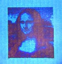 Plasmonic colour laser printing La Gioconda