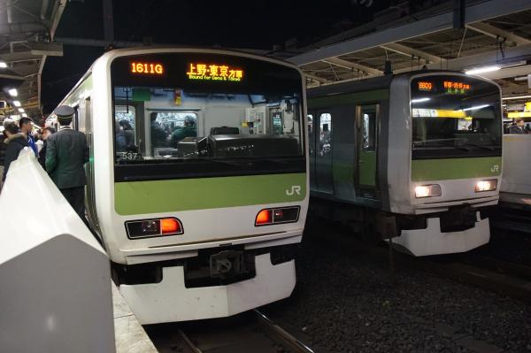 2015-12-18 山手線E231系 トウ537編成 トウ534編成