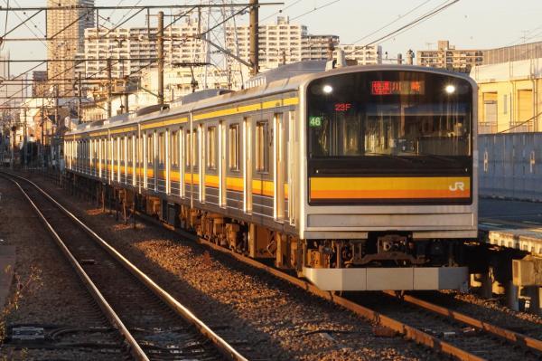 2015-12-18 南武線205系ナハ46編成 快速川崎行き