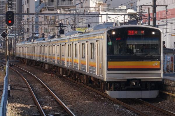 2015-12-18 南武線205系ナハ46編成 快速立川行き1