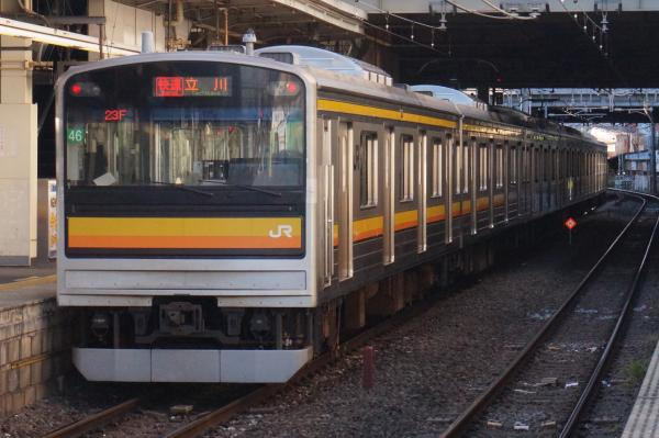 2015-12-18 南武線205系ナハ46編成 快速立川行き2