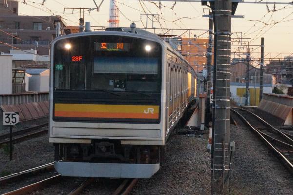 2015-12-18 南武線205系ナハ46編成 立川行き1