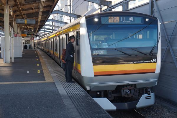2015-12-18 南武線E233系ナハN5編成 各駅停車川崎行き