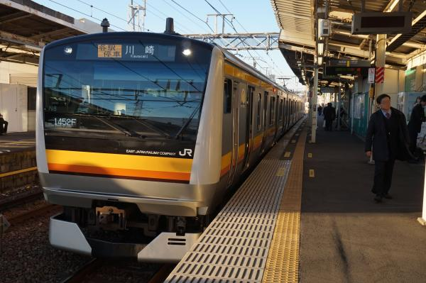 2015-12-18 南武線E233系ナハN8編成 各駅停車川崎行き