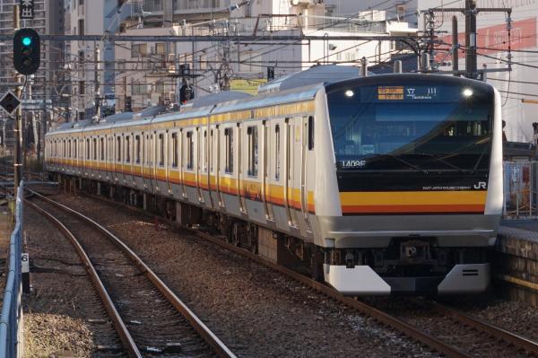 2015-12-18 南武線E233系ナハN16編成 各駅停車立川行き
