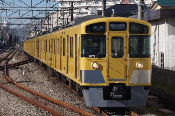 2015-12-20 西武2071F 各停西武新宿行き 5604レ