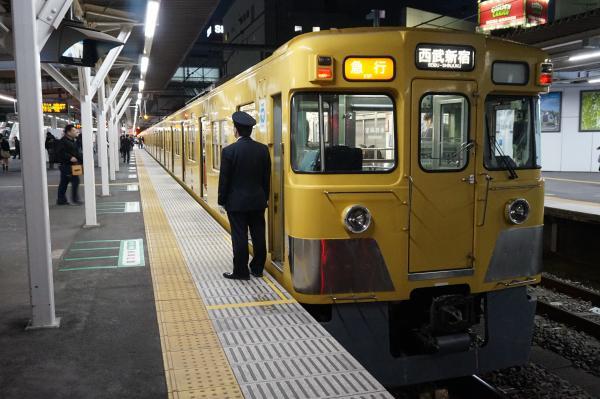 2015-12-22 西武2537F+2011F 急行西武新宿行き 2674レ