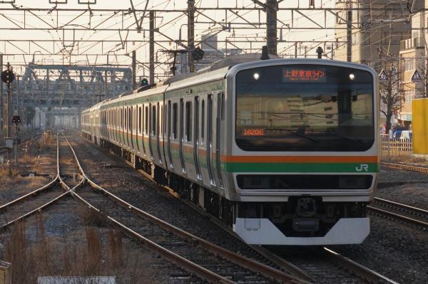 2016-01-08 E231系コツK-28編成 上野東京ライン宇都宮行き