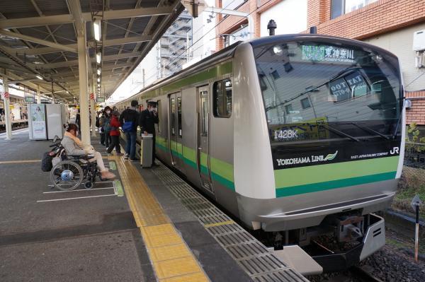 2016-01-21 横浜線E233系クラH017編成 各駅停車東神奈川行き1