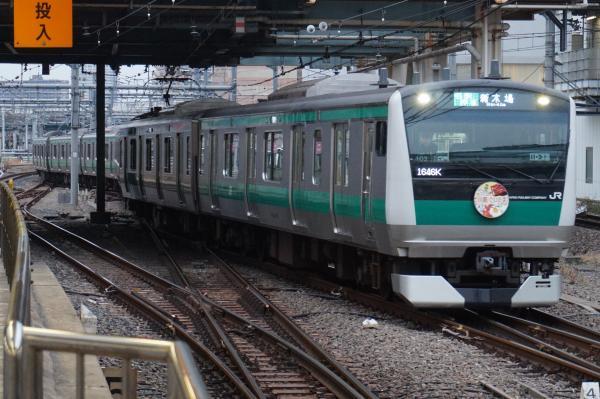 2016-01-23 埼京線E233系ハエ103編成 各駅停車新木場行き1
